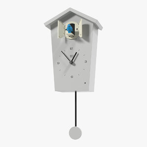 cuckoo clock white 3D model