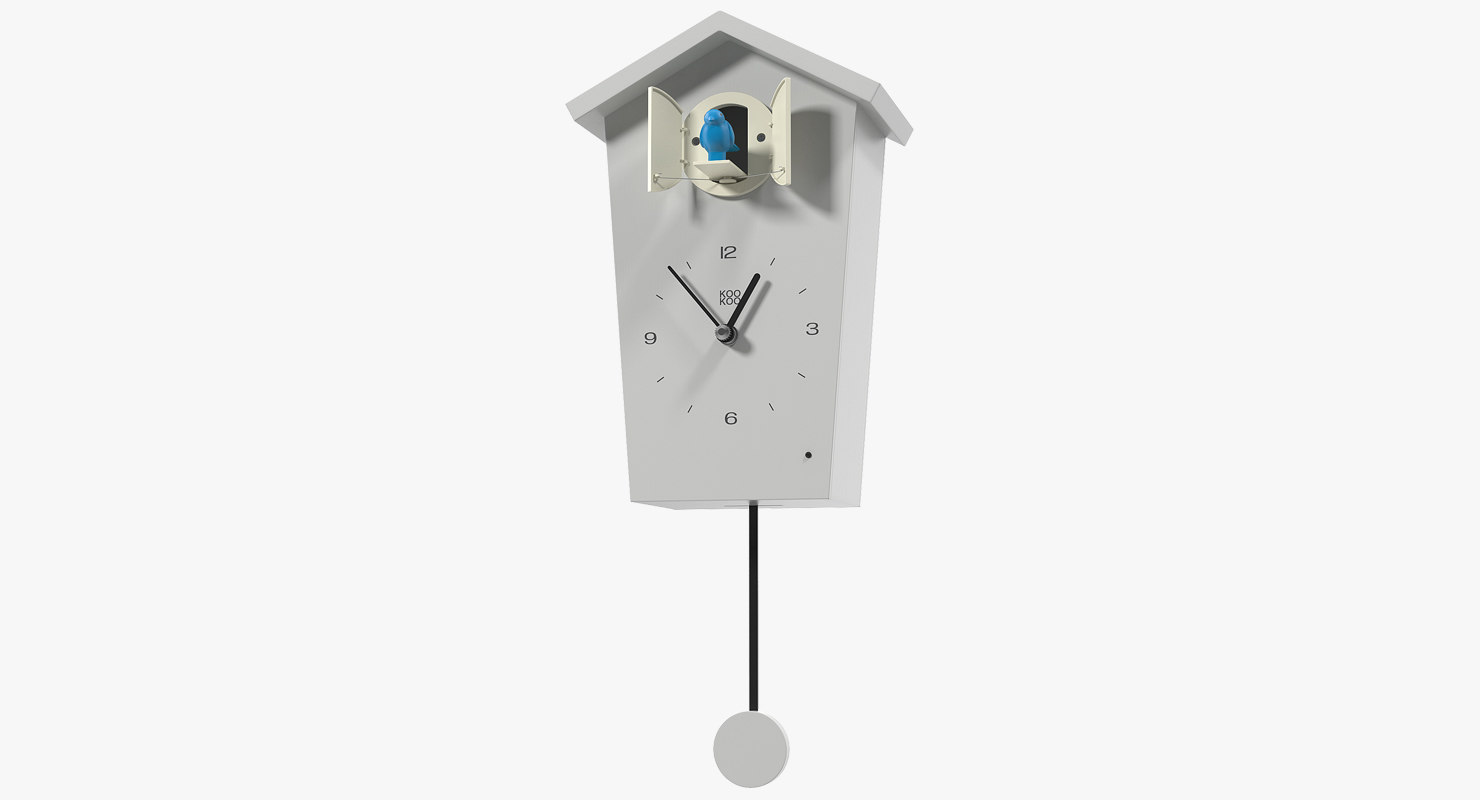 cuckoo clock white 3D model