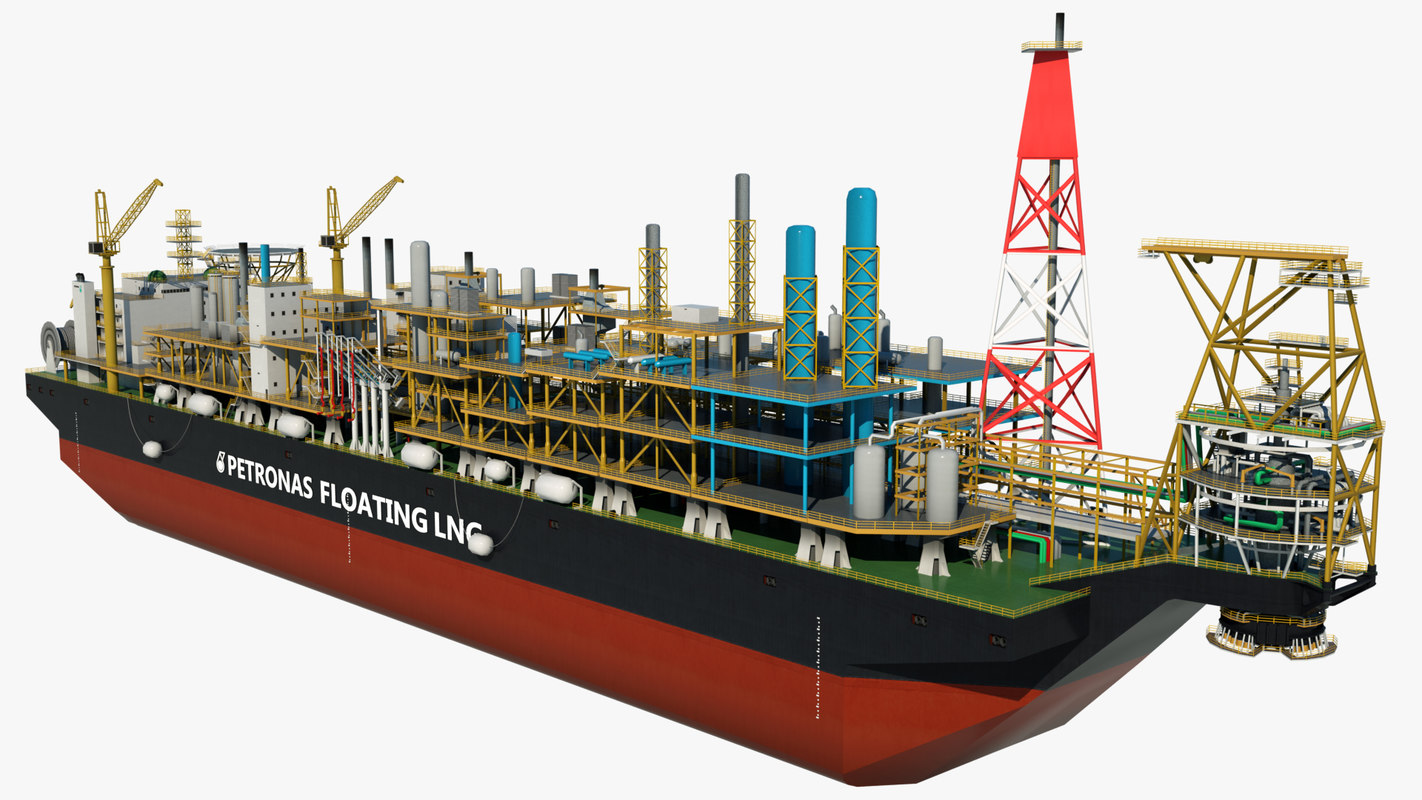 3D lng floating production storage
