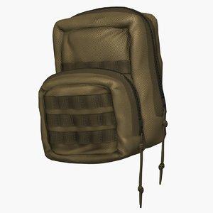 3D model molle tactical bags
