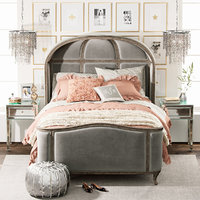 3D model girl versailles upholstered bed