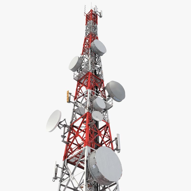 telecommunication tower antena 3D