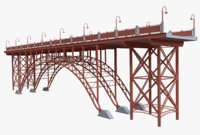 3D steel bridge model
