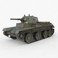 Tank BT 7 Soviet Vray