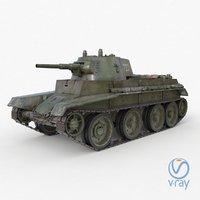 3D tank bt 7 soviet model