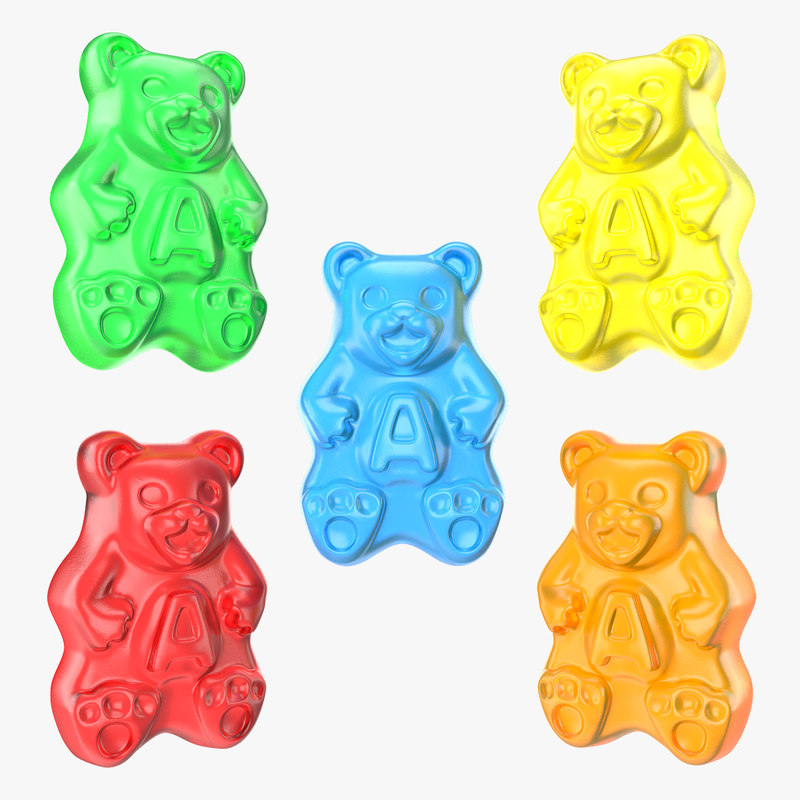 3D gummi bears set