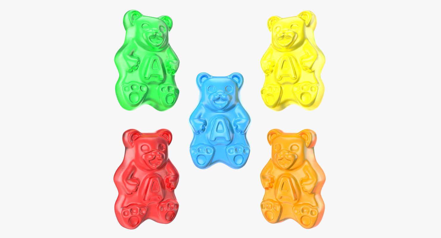 3D gummi bears set
