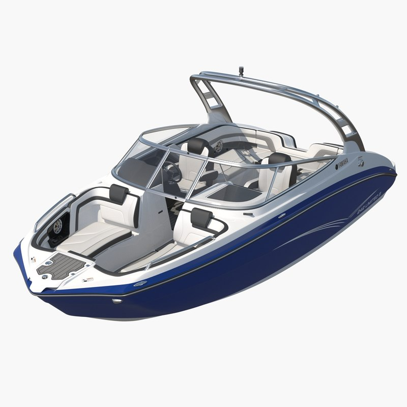 luxury boat yamaha 242 3D model