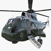 3D marine hellicopter carrying president model