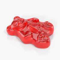 red gummi bear 3D