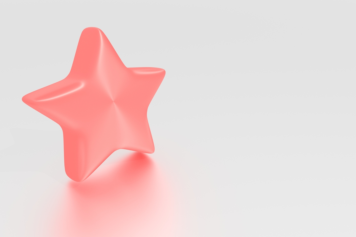 3D model five-pointed stars