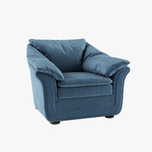 muscat armchair 3D model