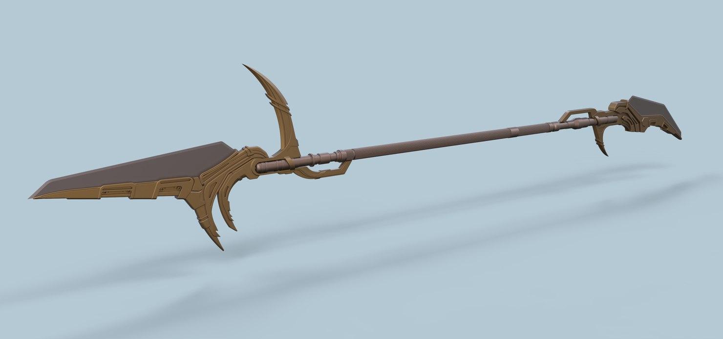 corvus glaive spear 3D model