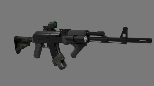 tactical ak47 3D