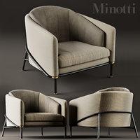 armchair minotti fil noir model