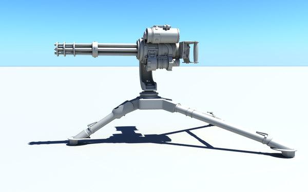 minigun m134 3D model