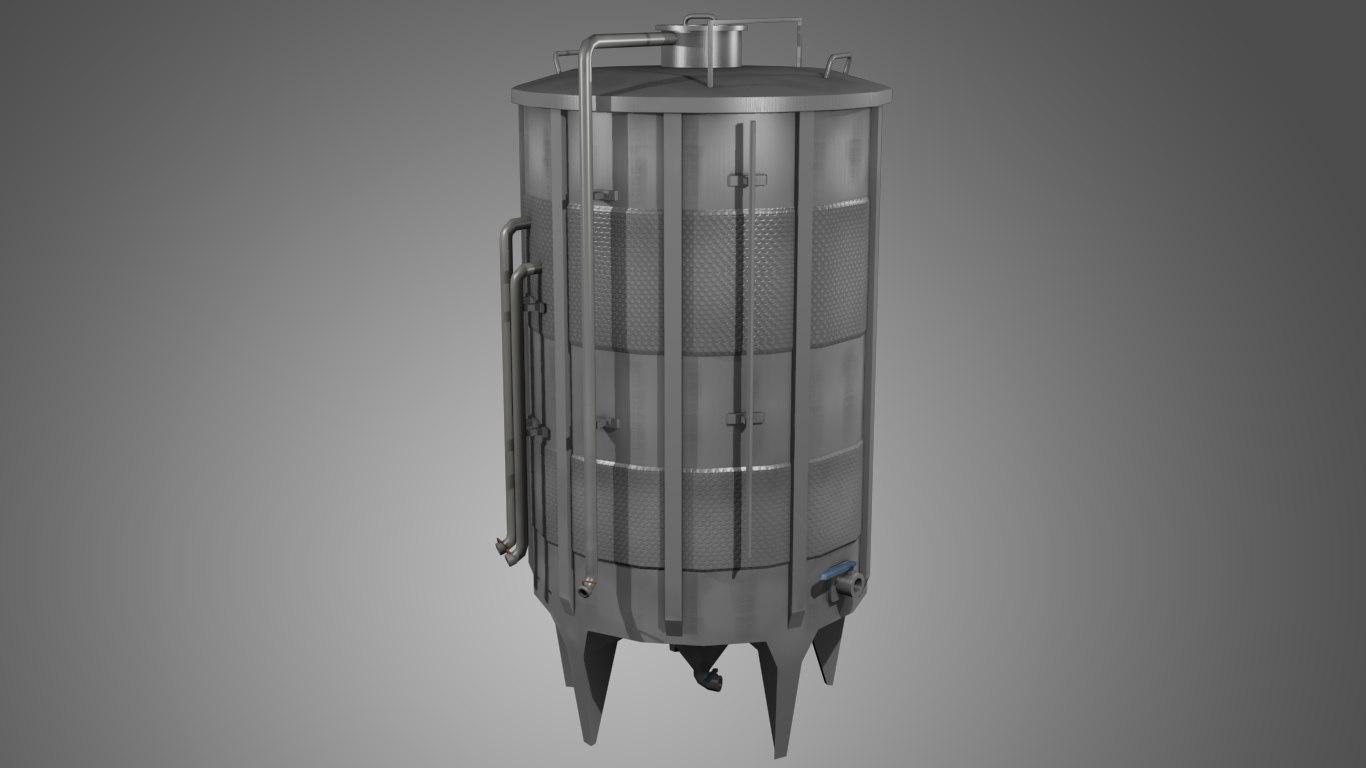 tank metal 3D model