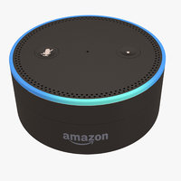 3D model amazon echo dot