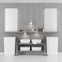 qi bathroom furniture set model