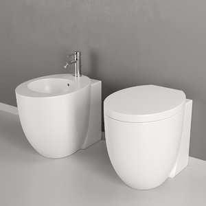 3D toilet le giare bidet