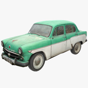 3D moskvitch auto