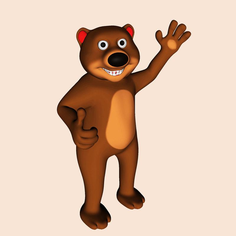 Modello d orso dei cartoni animati turbosquid