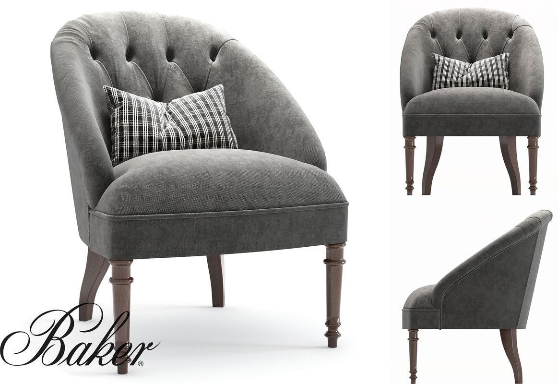 3D model baker collette chair luxury