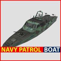 3D navy patrol boat