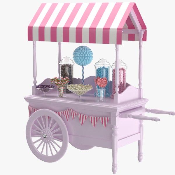 cart modeled 3D model