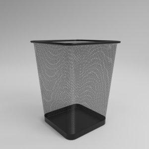 interior mesh trash rectangular 3D model