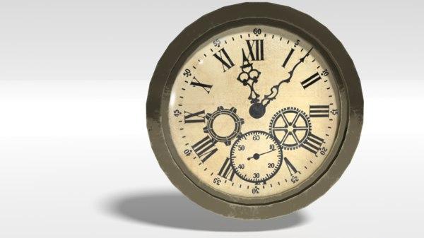 3D clock pbr
