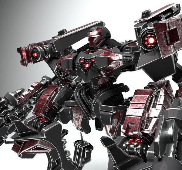 man robot weapon 3D