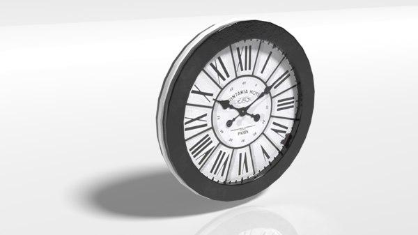 pbr clock 3D model