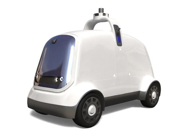 delivery dron nuro r1 3D model