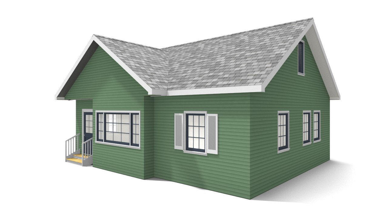 bungalow house 3D