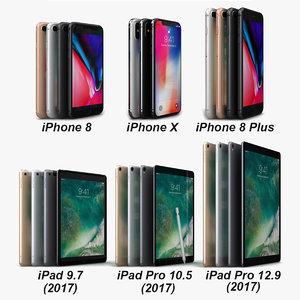 3D model apple electronics 2017 iphone