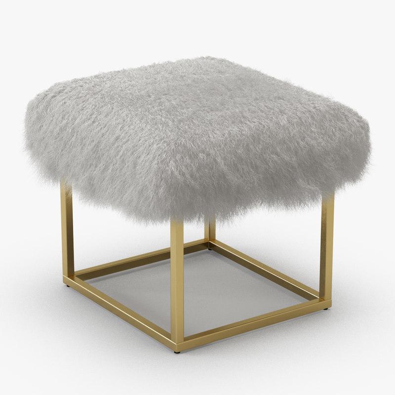 3D wool reno gold sheepskin
