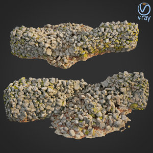 3D scanned nature stone wall