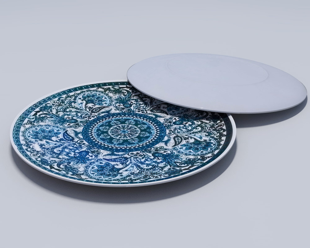 3D plate dish tableware