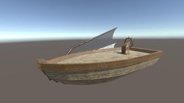 space boat 3D model