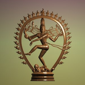 3D sculpture shiva nataraja art model