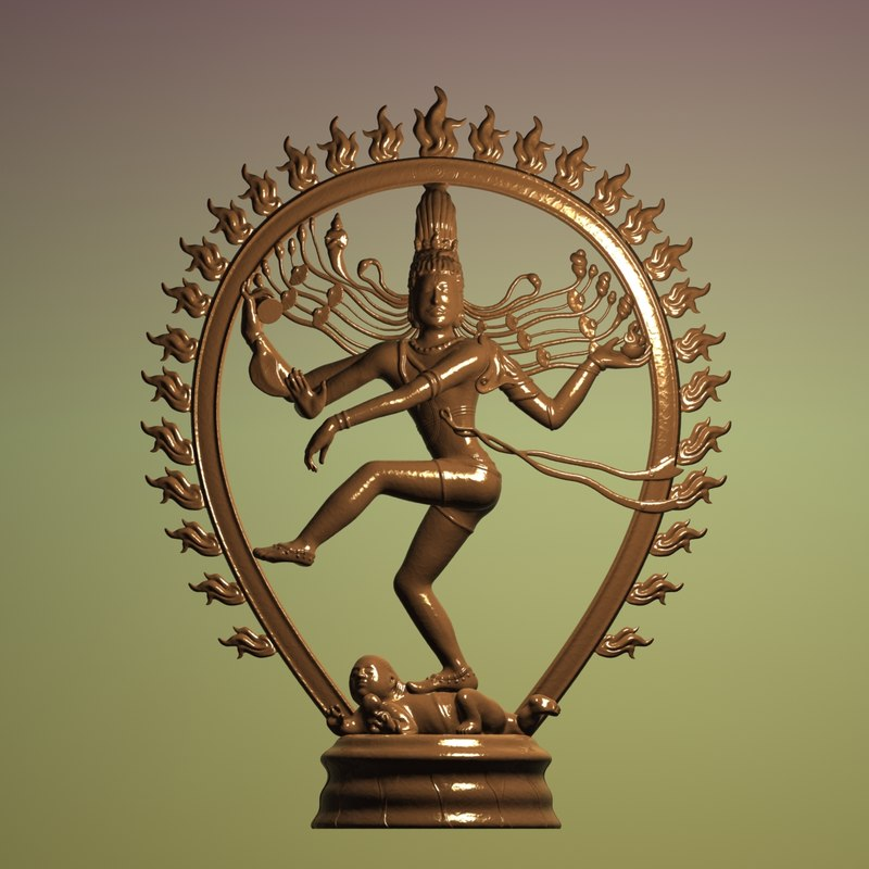 3D sculpture shiva nataraja art model