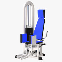 3D model hip abduction adduction
