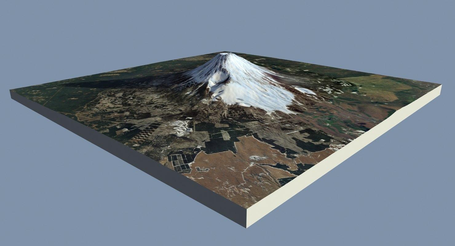 mount fuji 30 x 3D model