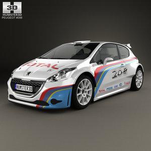 3D model peugeot 208 r5
