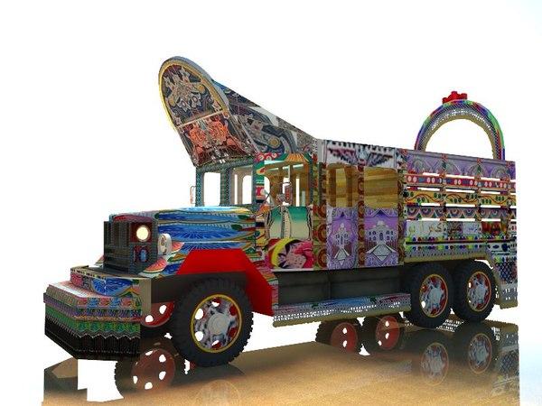 3D world war army truck model