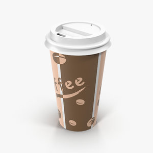 3D to-go coffee cup 2
