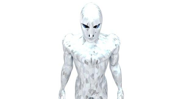 cyborg body human 3D model