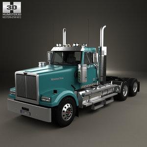 3D western star 4900 model