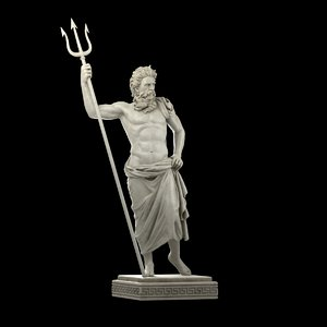 3D poseidon statue